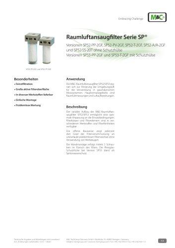 Raumluftansaugfilter Serie SP®