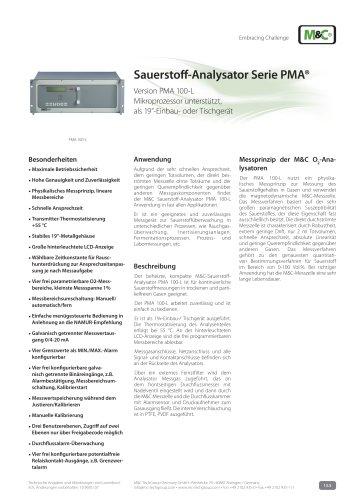 Sauerstoff-Analysator Serie PMA®