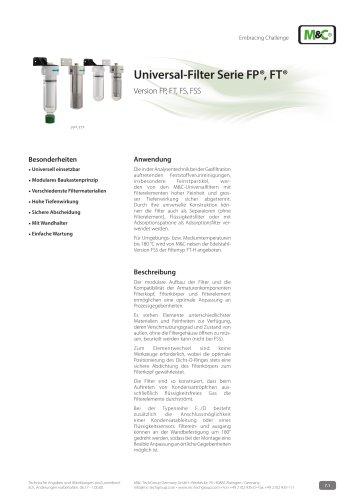 Universal-Filter Serie FP®, FT®