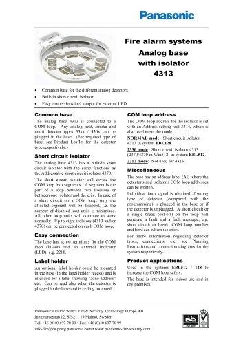 Analog base with isolator 4313