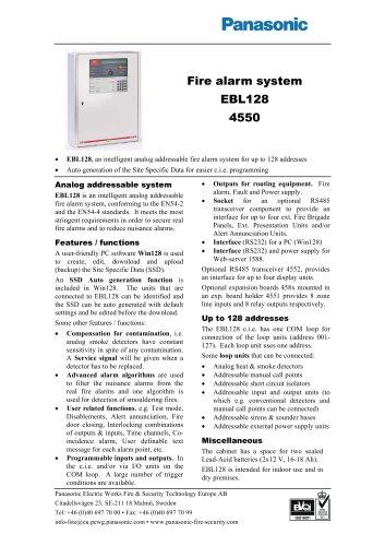 Fire alarm system EBL128
