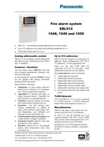 Fire alarm system EBL512