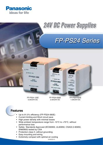FP-PS24 Series: 24V DC Power Supplies
