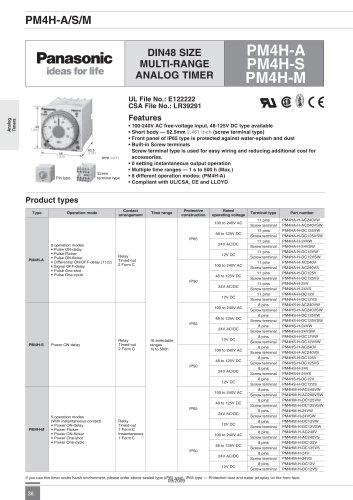 PM4H - analog timer