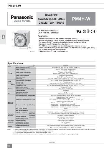 PM4H-W - analog timer - twin