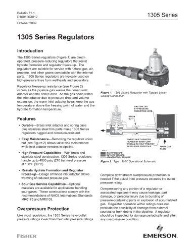 1305 Series Regulators