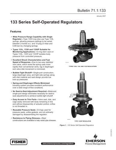 133 Series Self-Operated Regulator