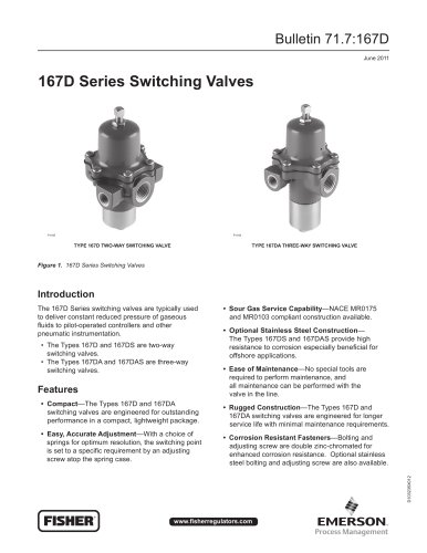 167D Series Switching Valves