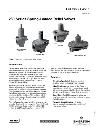 289 series Spring-Loaded Relief Valves