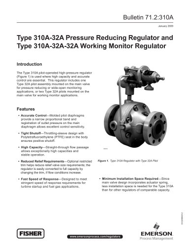 310A Pressure Reducing Regulator