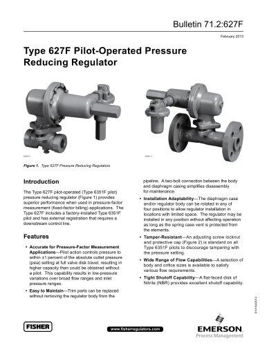 627F Pressure Reducing Regulator