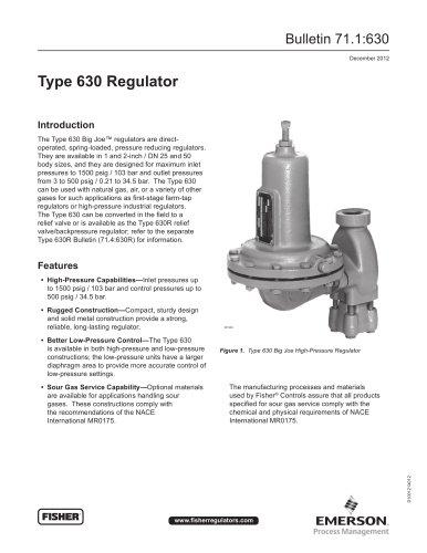 630 Regulator