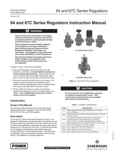 64 and 67C Series Regulators Instruction Manual
