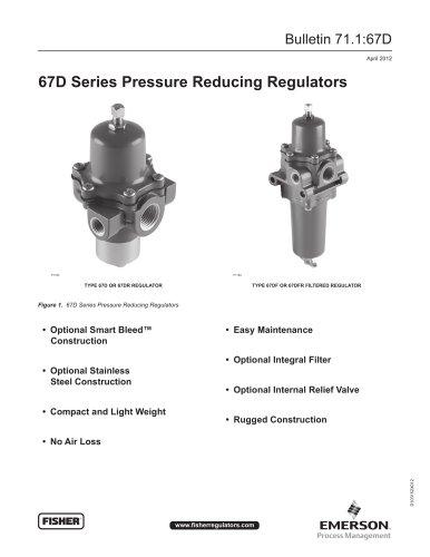 67D Series Pressure Reducing Regulators