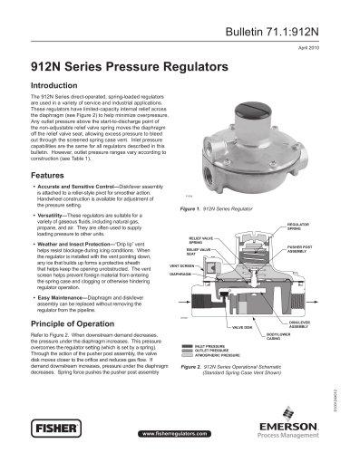 912N Series Pressure Regulators