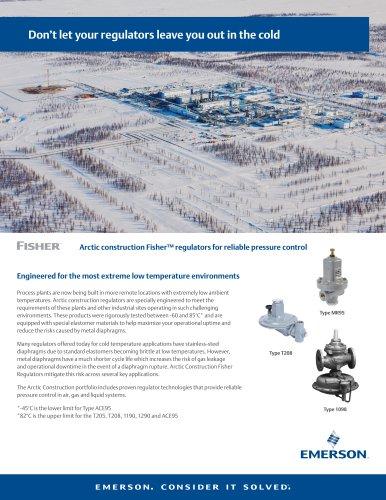 Arctic construction Fisher™ regulators for reliable pressure control