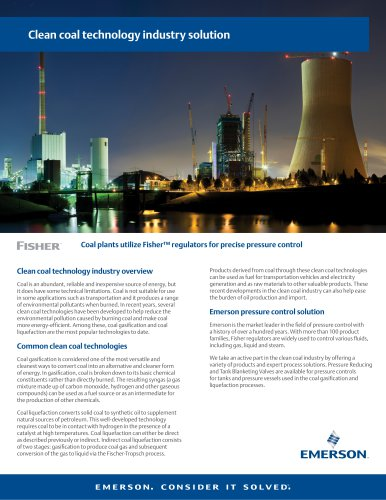 Clean coal technology industry solution
