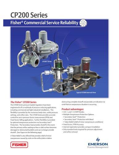 CP200 Series Commercial / Industrial Pressure-Loaded Pressure Reducing Regulator Flier