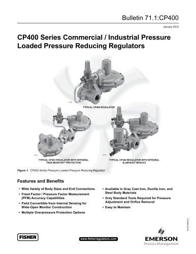 CP400 Series Commercial / Industrial Pressure-Loaded Pressure Reducing Regulators