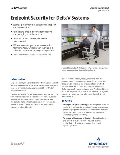 Endpoint Security for DeltaV Systems Service