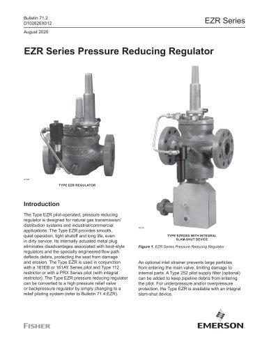 EZR Series Pressure Reducing Regulator