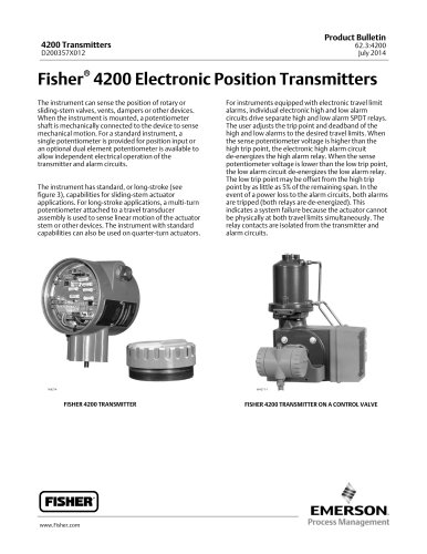 Fisher® 4200 Electronic Position Transmitters