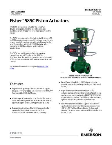 Fisher™ 585C Piston Actuators
