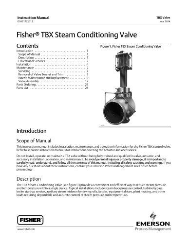 Fisher® TBX Steam Conditioning Valve