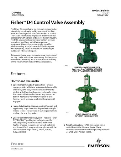 .Fisher.comFisher™ D4 Control Valve Assembly