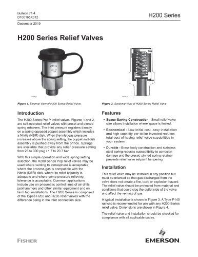 H200 Series Relief Valves