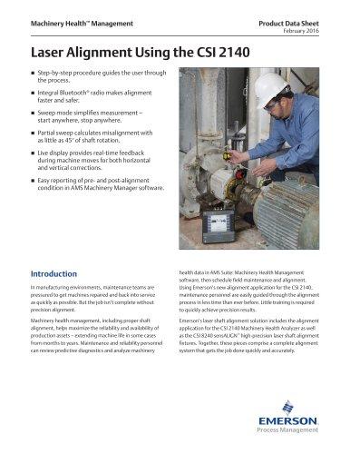 Laser Alignment Using the CSI 2140