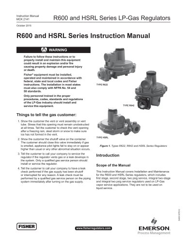 R600 and HSRL Series Instruction Manual