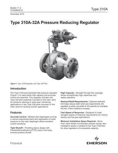 Type 310A-32A Pressure Reducing Regulator