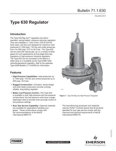 Type 630 Regulator