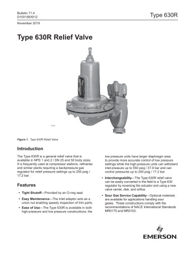 Type 630R Relief Valve
