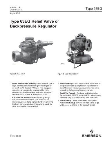 Type 63EG Relief Valve or Backpressure Regulator
