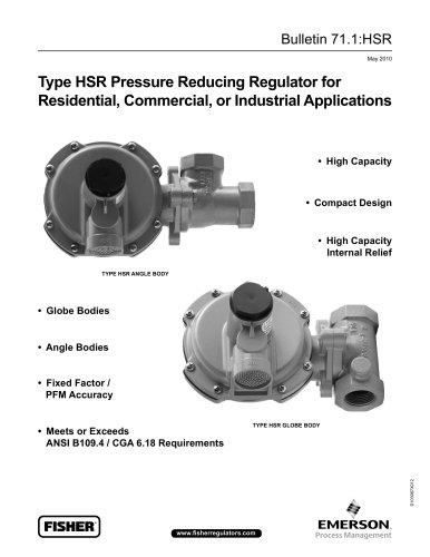 Type HSR Pressure Regulators