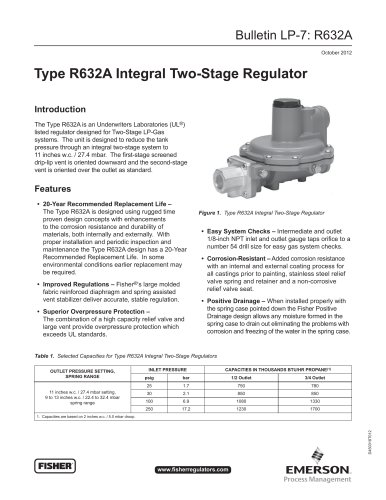 Type R632A Integral Two-Stage Regulator