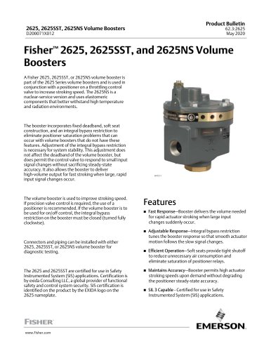 www.Fisher.comFisher™ 2625, 2625SST, and 2625NS VolumeBoosters