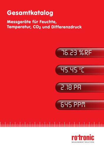 Gesamtkatalog - Messgeräte für Feuchte, Temperatur, CO2 und Differenzdruck