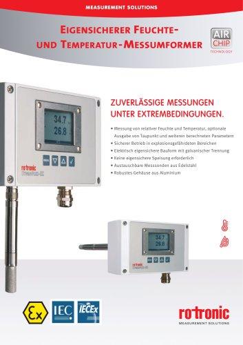 HygroFlex5-EX - HF5-EX Eigensicherer Feuchte- und Temperatur-Messumformer
