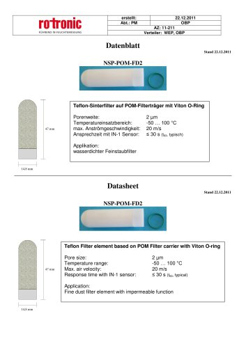 NSP-POM-FD2 Filter