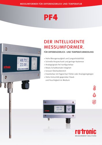 PF4 Differenzdruck-Messumformer
