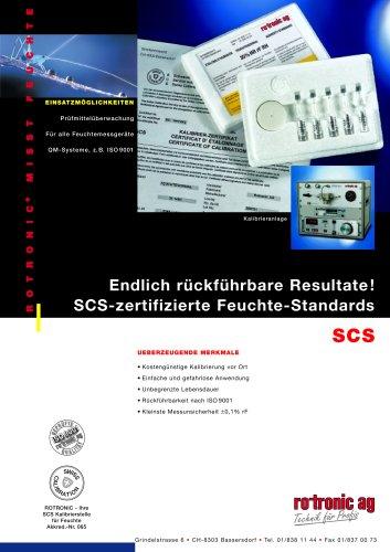 SCS-Feuchtestandards Datenblatt
