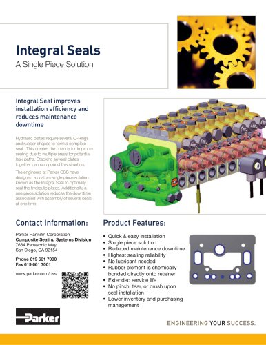 Integral Seals A Single Piece Solution