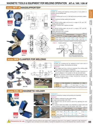 MAGNETIC TOOLS FOR WELDING OPERATION