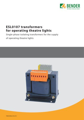 ESL0107 transformers for operating theatre lights