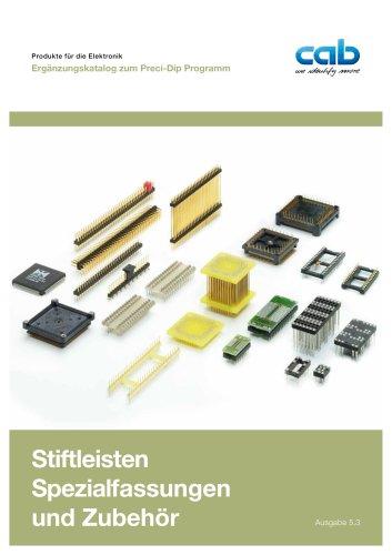 Katalog Stiftleisten, Spezialfassungen und Zubehör