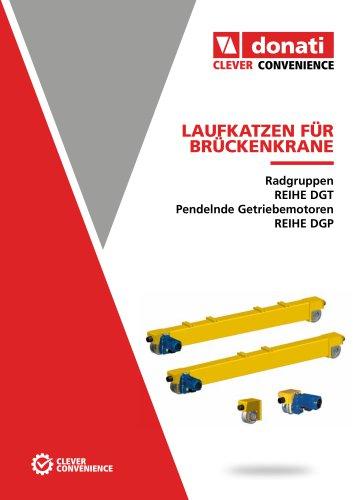 Fahrantriebe für krane – Serie DGP_DGT