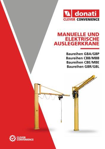 Manuelle und elektrische auslegerkrane